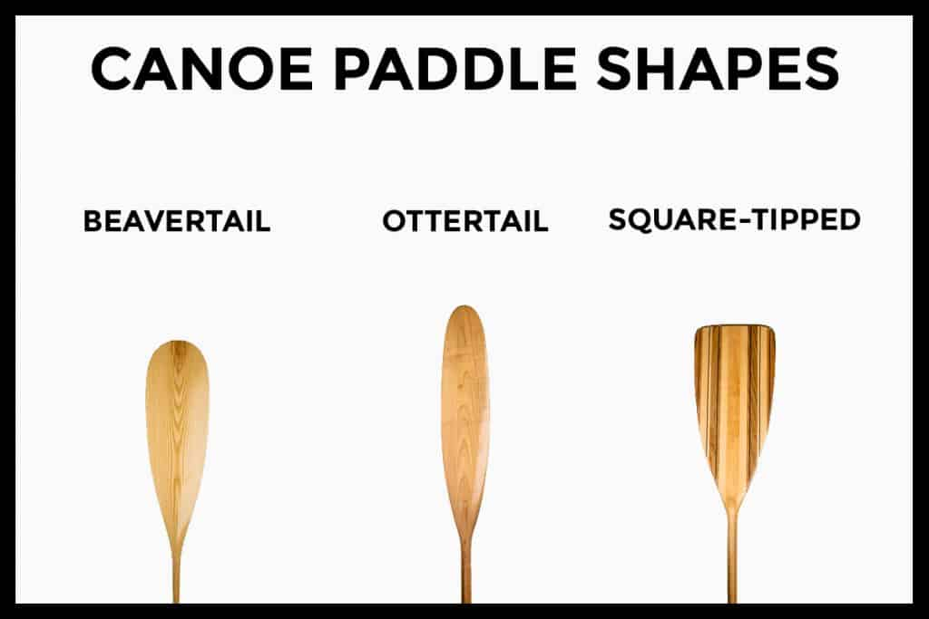 Canoe Paddle Blade Shapes