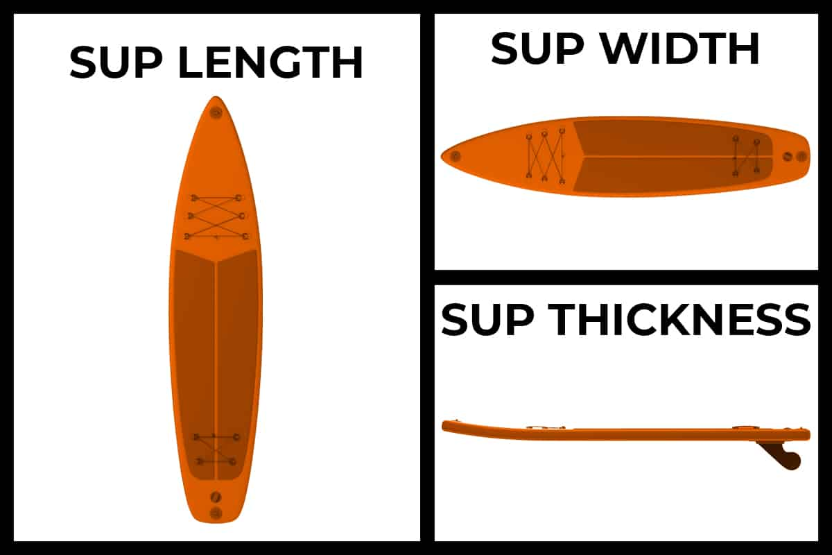 Dimensions of a Paddle Board