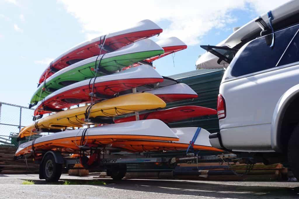 How to Transport Kayak - Trailer