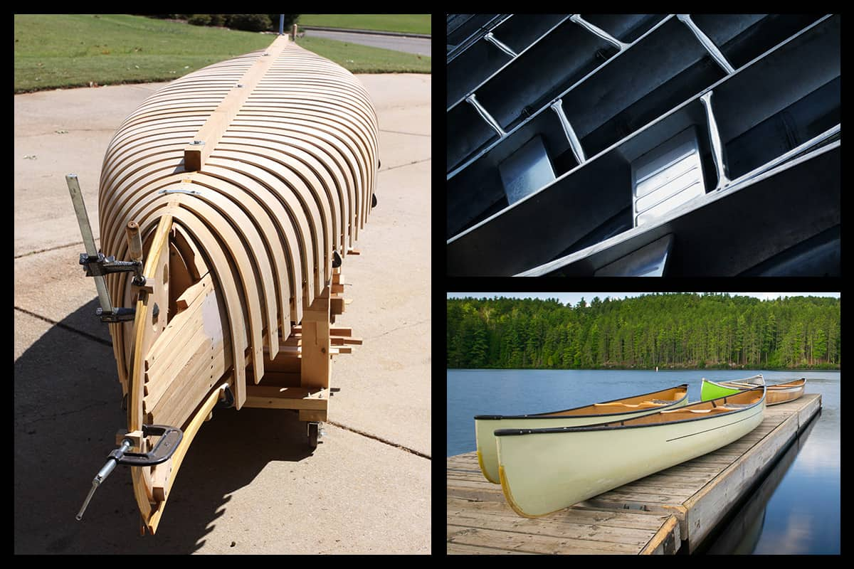 What are canoes made of?
