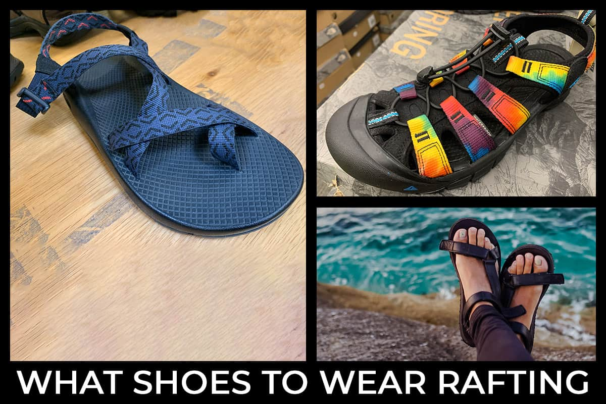 What Shoes to Wear White Water Rafting